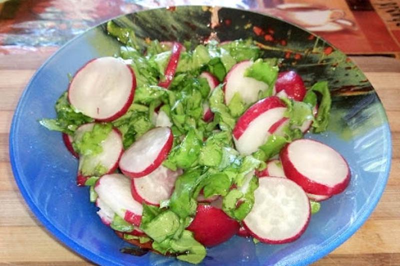 Витаминка салат из редиса