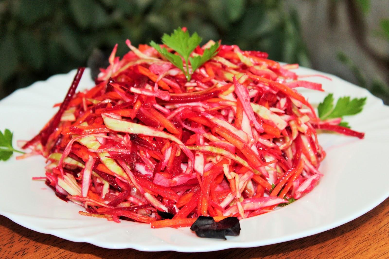 Щетка салат из свежей капусты
